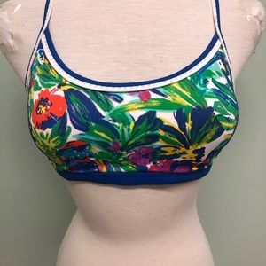 Lands' End Floral Bikini Top (PM627)